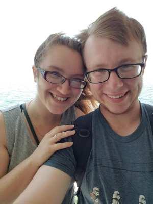 selfie on boat